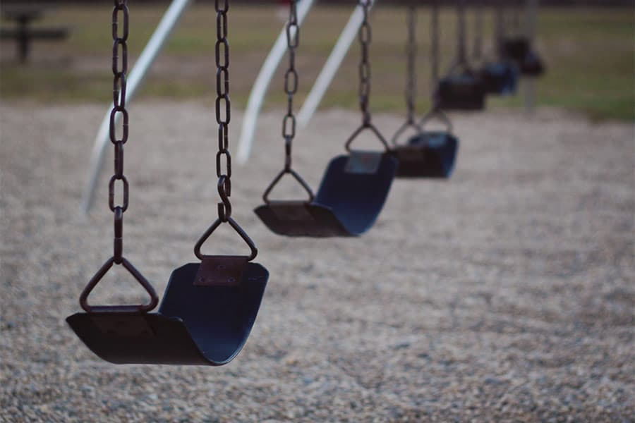 Row of Swings