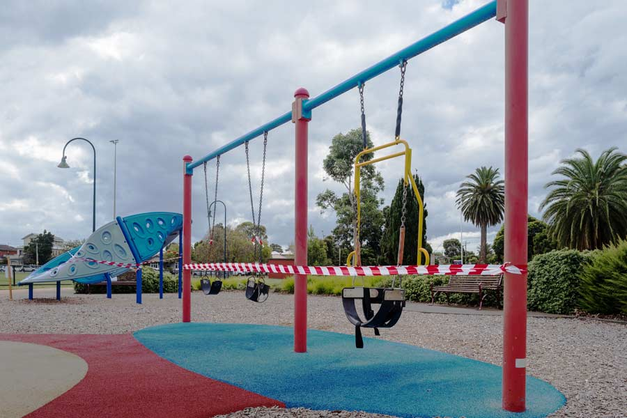New playground under construction